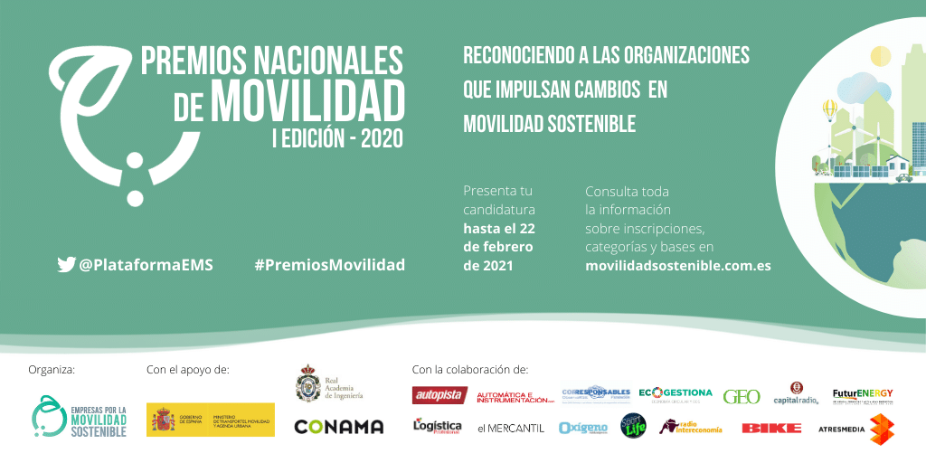 La plataforma de Empresas por la Movilidad Sostenible lanza los Premios Nacionales de Movilidad